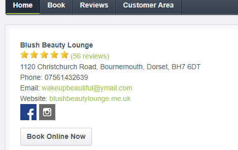 blush beauty lounge book online